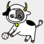 LINE着せ替えで使うボールを転がす牡牛のイラスト