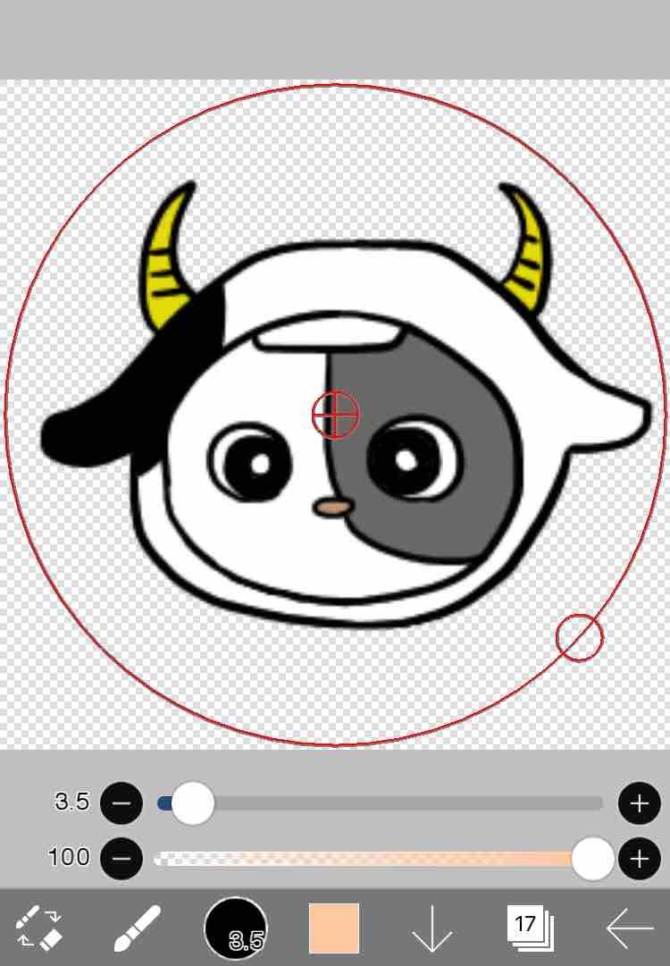 アイビスペイントで牡牛座のプロフィール画像を作成