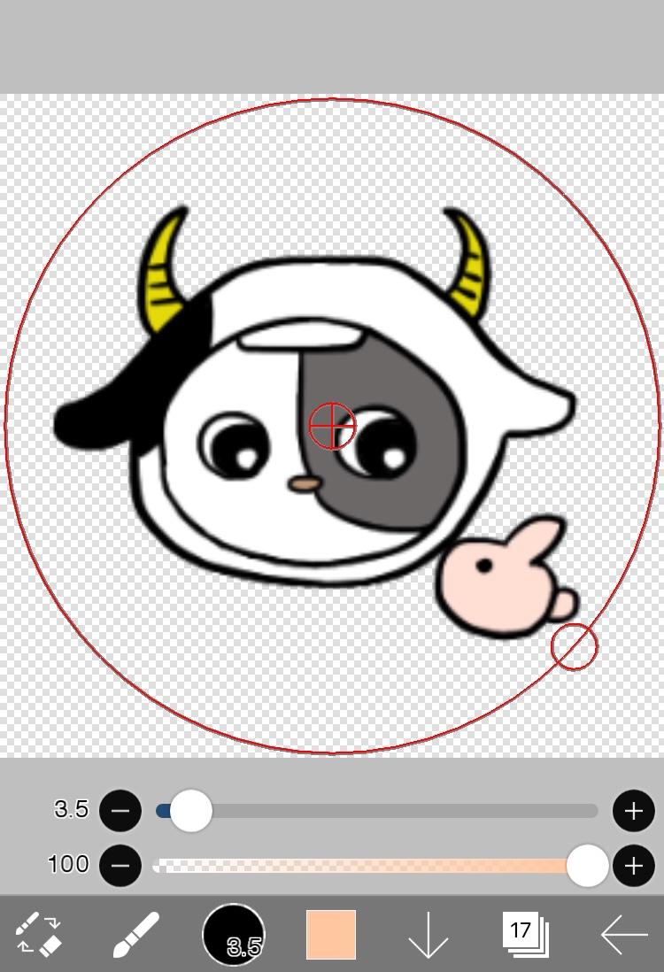 アイビスペイントで作ったおうし座のLINEグループ用プロフィール画像