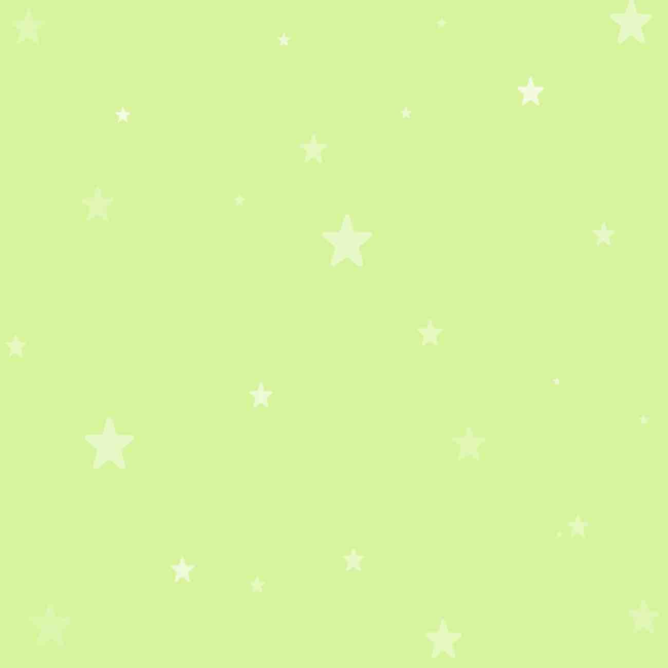 淡い緑色に星が散りばめられたLINEトークルーム背景